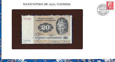 Banknotes of All Nations Denmark 20 Kroner P49a.2 1972 (1979) UNC A0793G