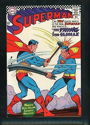 Superman 196 From 1967 Very Fine+ Beautiful Copy