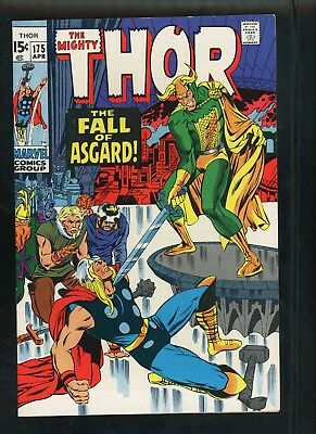 Thor 175 From 1970 Very Fine 8.0 Condition Loki and The Warriors Three