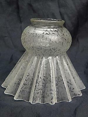 Antique glass lamp shade etched crimped pleated crystal petticoat 2 antique glass lamp shade etched crimped pleated crystal petticoat 2 14 fitter mozeypictures Image collections