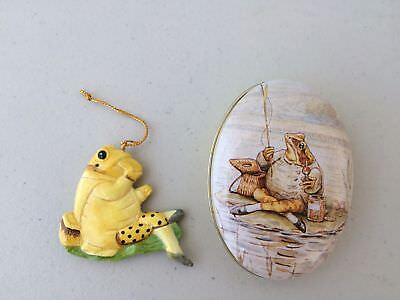 Schmid F. Warne Beatrix Potter character Jeremy Fisher Frog Ornament in Tin 1988
