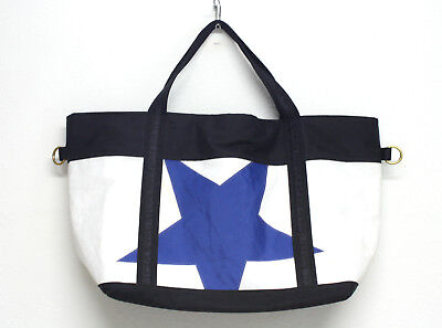 Ella Vickers Recycled Sailcloth Collection Tote Zipper Beach Travel USA Handmade