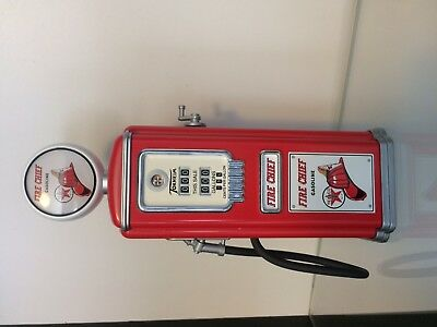 "Texaco Sky Chief 1950 Gas Pump-Gearbox 8 1/2"" DieCast Coin Bank Limited Edition"