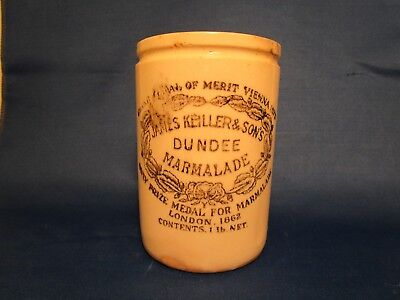 Vintage James Keiller & Son's Dundee Marmalade-1862 Stoneware Made In England