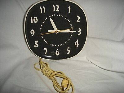 Mid Century Russel Wright Clock Charcoal Works All Original Excellent by GE