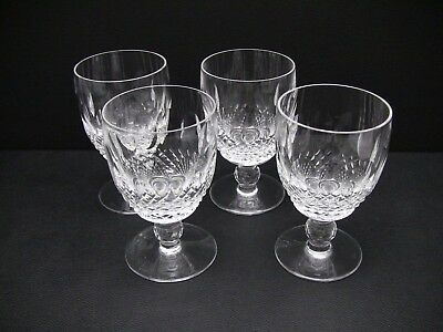 Waterford COLLEEN Short Stem Water Goblets Glasses / Set of 4 / Excellent
