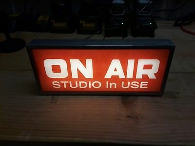 LED lighted On Air Studio Sign
