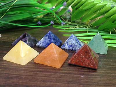 Set of 7 Chakra Pyramid Stone Set Crystal Healing - Chakra Set Top Quality