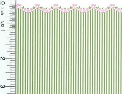 Dollhouse Miniature 1:24 Scale Garland Green Wallpaper