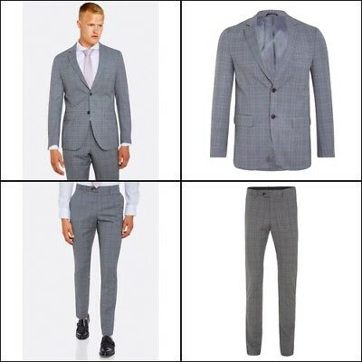 Auden Wool Luxury Suit Jacket Greyx With Matching Trousers Mens Suits
