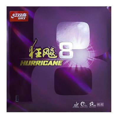 DHS Hurricane 8 Rubber (Med/2.15mm/ Black or Red)