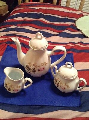 Fine China Pot For Coffe Or Tea / Sugar Bowl & Creamer Made In China