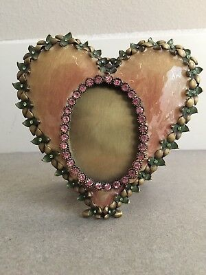 JAY STRONGWATER FLOWER Dominique Pink Heart Crystal Enamel Picture ...