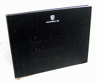 """Porsche Panamera 2017 Promotional Hardcover Book  """"Courage Changes Everything"""""""