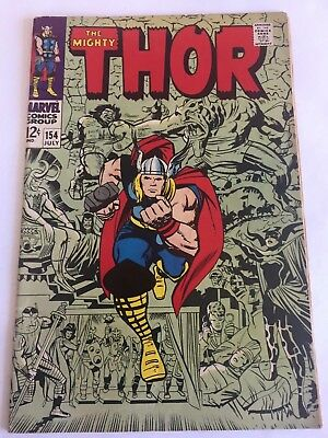The Mighty Thor #154/Silver Age Marvel Comic/1st Mangog/ Higher Grade copy
