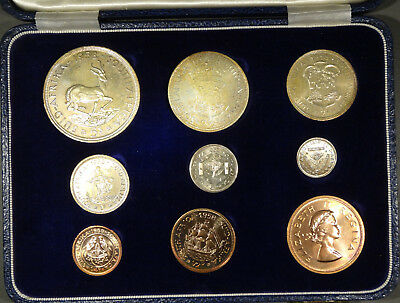 1958 South Africa Proof Set 9 Coins RARE set - mintage only 625 sets