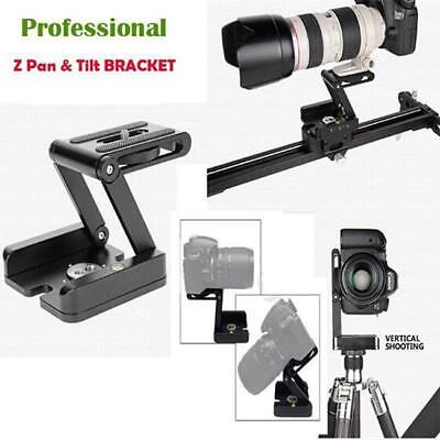 Z Pan Camera Flex Tripod Tilt Stand Mount Holder Head Studio Shoot Bracket JA
