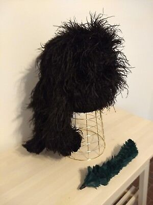 Scottish 4 Tail Feather Bonnet w/Green Hackle 23 1/8 in. or 58.7 cm with strap