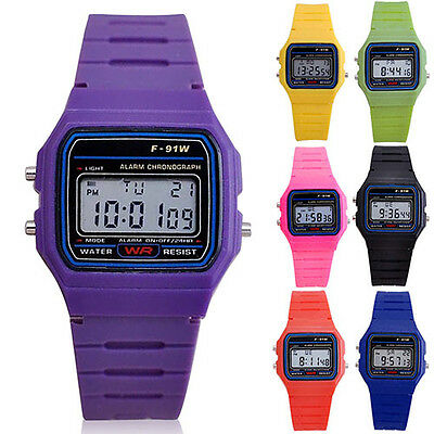 Men Women Electronic LED Digital Multifunction Plastic Sport Wrist Watch Cheaply