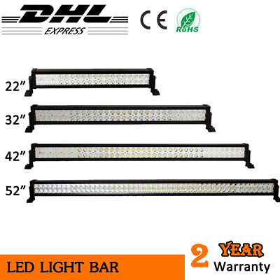 120W 180W 240W 300W LED light bar work driving offroad 4WD boat SUV 4X4 12V 24V