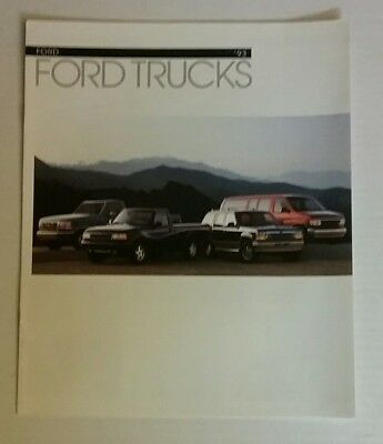 Vintage 1993 Ford Trucks 8 Page Car Auto Sales Brochure Free Shipping