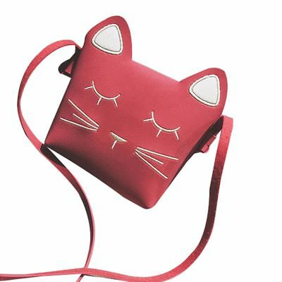 Cute Cat Girls Purse handbag Children Kid Cross-body shoulder bag Christmas Y5Z7