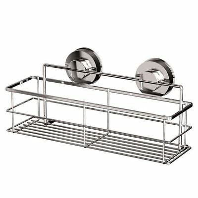 Stainless Steel Non-Rust Bathroom Shower Shelf Storage Suction Basket Caddy H1Y3