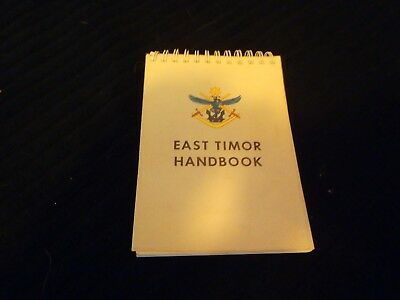 Australian Army  East Timor Handbook . Hard To Find .
