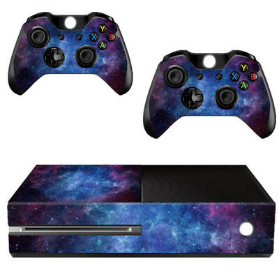 Nebula Pattern Skin Sticker For Xbox ONE Console Controller +Kinect Decal V S8Y6