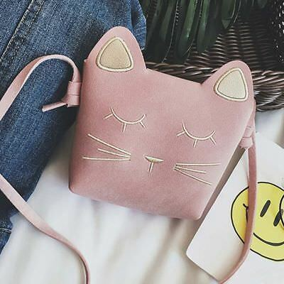 Cute Cat Girls Purse handbag Children Kid Cross-body shoulder bag Christmas F3U4