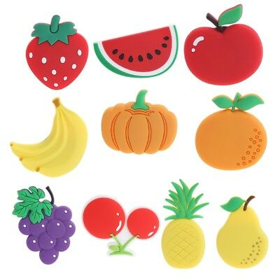 Cartoon Fruits Kawaii Kids Grape Pear Fridge Magnets Souvenir Magnetic Sticker