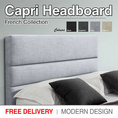 Upholstered Headboard Double Queen King Bed Head Style Fabric For Base Brand New