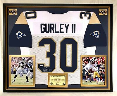3ccbf187e Premium Framed Todd Gurley Autographed   Signed Los Angeles Rams Jersey  -JSA COA