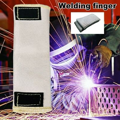 1Pc TIG Finger Weld Monger Welding Gloves Heat Shield Glass Fiber Cover Guard BE