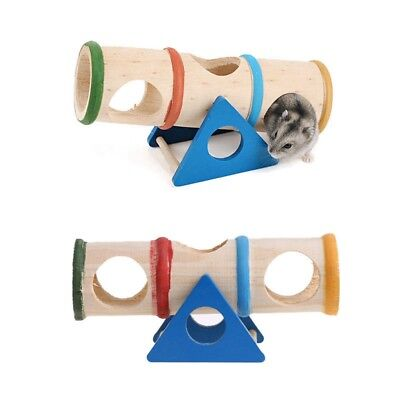 Wooden Colorful Seesaw Cage House Hide Play Toy For Hamster Mouse Mice Pet BE