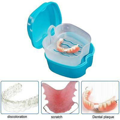 Dental Orthodontic Retainer Denture Storage Net Box Case Mouthguard Container
