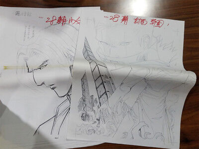 King of Fighters 99 Official Comic Internal Draft Original Art Signed NeoGeo AES