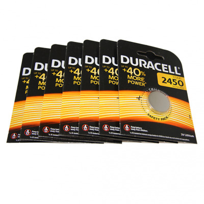 7x Duracell CR2450 3V Lithium Button Battery Coin Cell DL/CR/ECR 2450 Exp. 2026