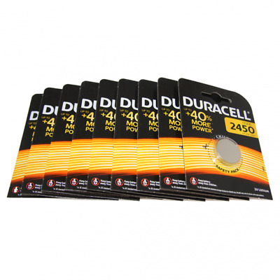 9x Duracell CR2450 3V Lithium Button Battery Coin Cell DL/CR/ECR 2450 Exp. 2027