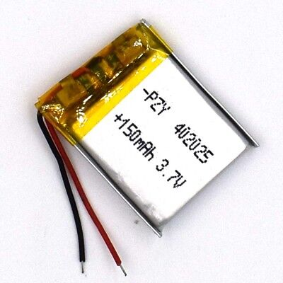 3.7 V 150mAh 402025 Li-Polymer Rechargeable Battery Liion LiPo Cell for GPS MP3