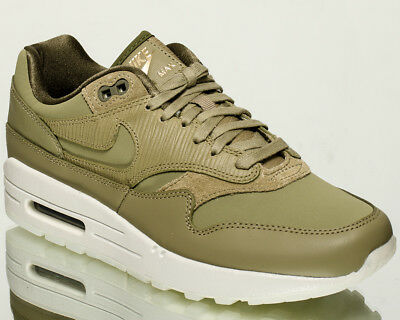 5126108742 Nike Wmns Air Max 1 Premium women lifestyle kicks NEW neutral olive  454746-205