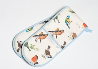 Roy Kirkham Butterfly Garden Double Oven Glove Mitts Cotton Padded Insulated New
