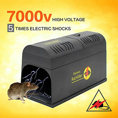 Electronic Rat And Rodent Trap Powfully Kill And Eliminate Rats Mice Or Other