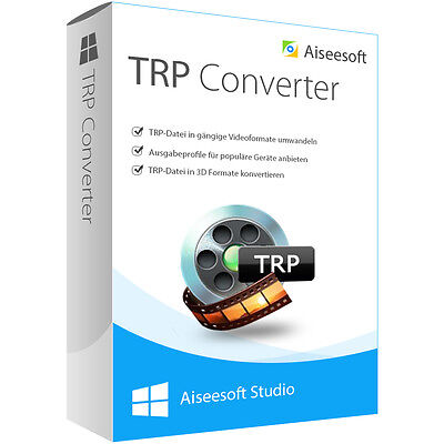 TRP Converter WIN Aiseesoft dt.Vollversion lebenslange Lizenz Download 21,99 !