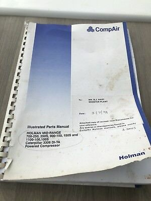Compair Holman 700-250 900-150 1100-100 Air Compressor  Illustrated Parts List