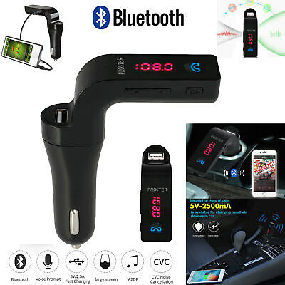 Bluetooth FM Transmitter MP3 Player USB Stick KFZ Auto AUX A2DP Freisprechanlage