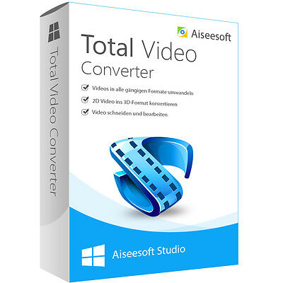 Total Video Converter WIN Aiseesoft dt.Vollver.lebenslange Lizenz Download 21,99