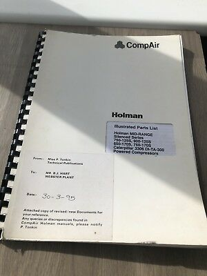 Compair Holman 750-125 900-125 750-170 Portable Air Compressor Parts Manual