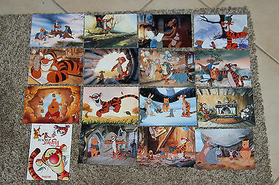 lot de 16 carte postale disney tigger movie tigrou film winnie pooh