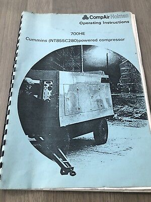 Compair Holman 700He Cummins N855C235 Portable Air Compressor Operators Manual